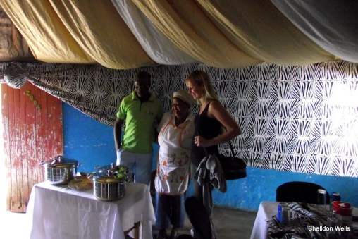 visitors enjoying zulu hospitality in the valley of 1000 hills