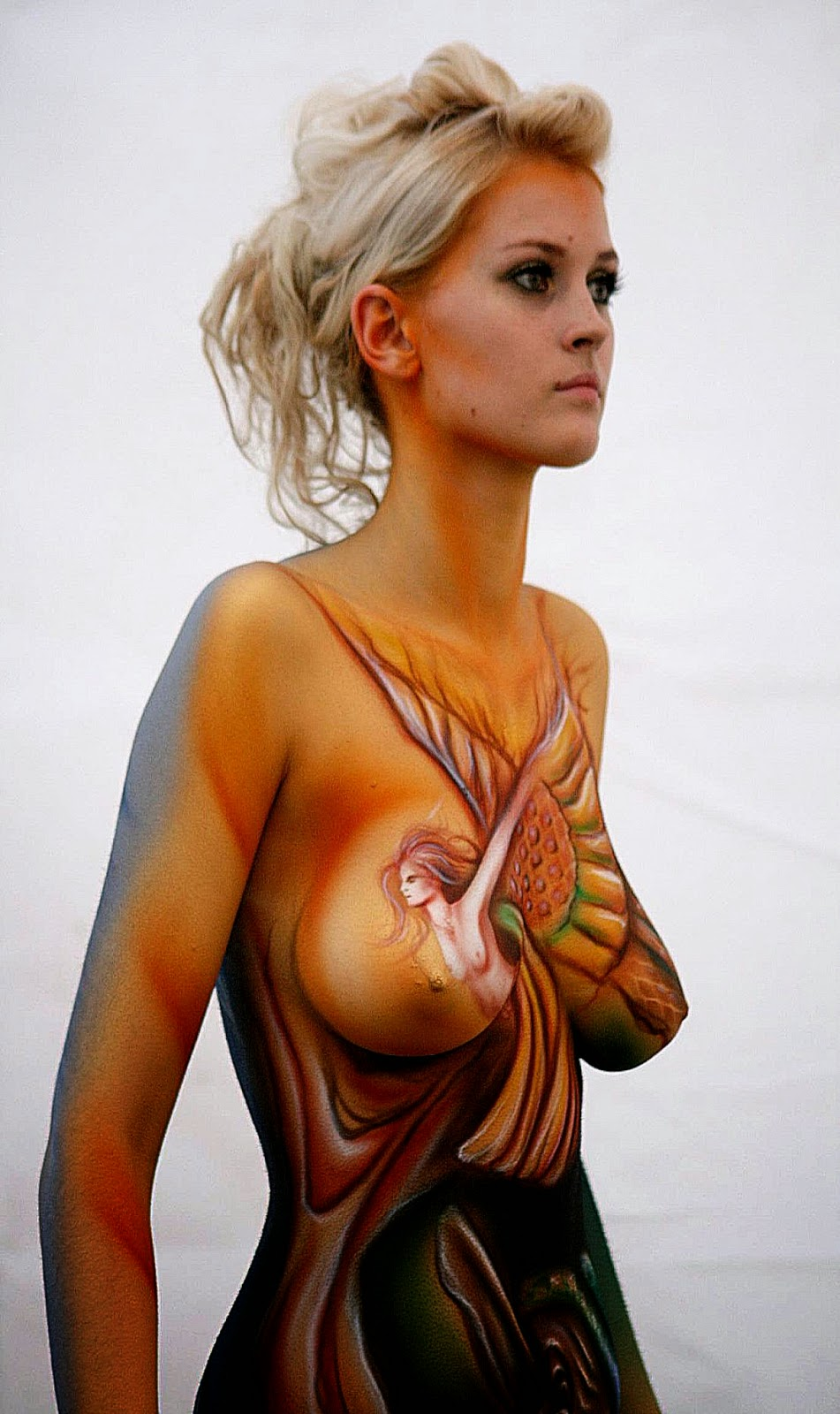 Naturist Body Painting : naturist, painting, Painting, Photos, Pictures