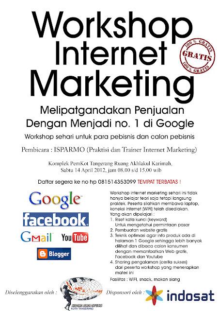 Brosur Workshop Internet Marketing