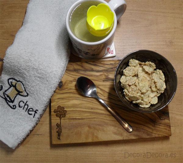 Una tabla de cocina bonita