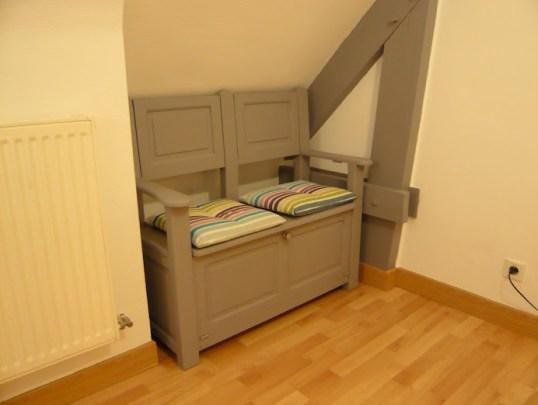 2 me vie pour un banc coffre relooking d 39 un banc coffre chez titval. Black Bedroom Furniture Sets. Home Design Ideas