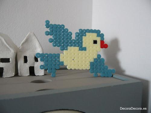 Un pájaro de hama beads para decorar