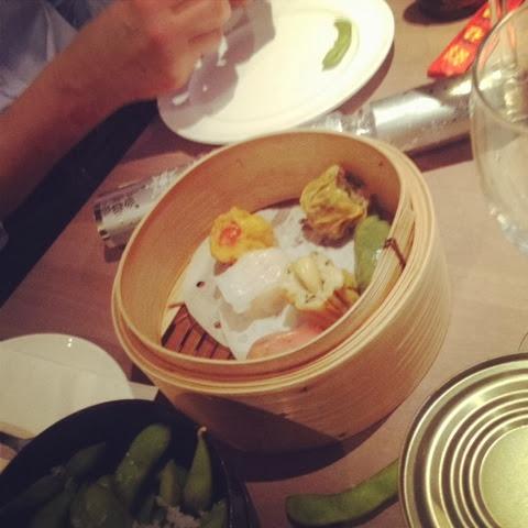 Dim sum served at Dim T pan-Asian restaurant, London Bridge