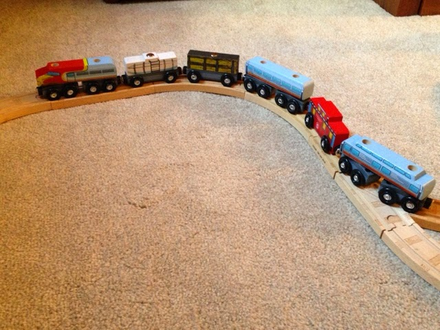 Review Melissa Doug Wooden Train Car Set From