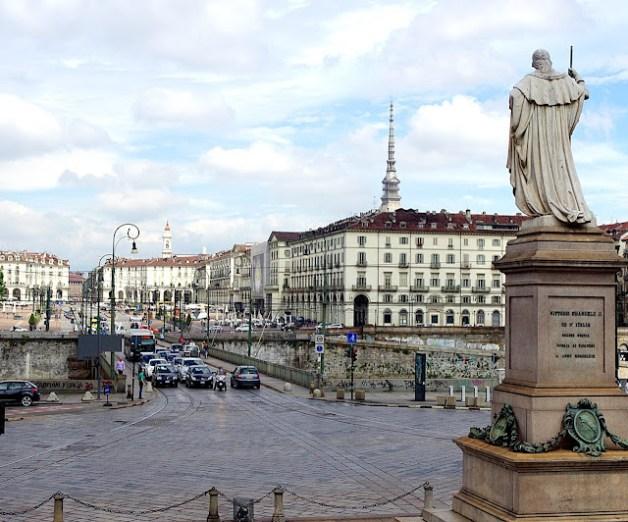 Turín en un día. Plaza de Vittorio Veneto, Turín