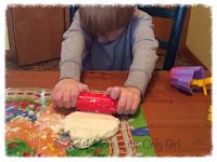 playdough manipulation for fine motor work at http://www.momistheonlygirl.com