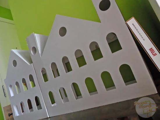 Casa de cartón de MUJI.