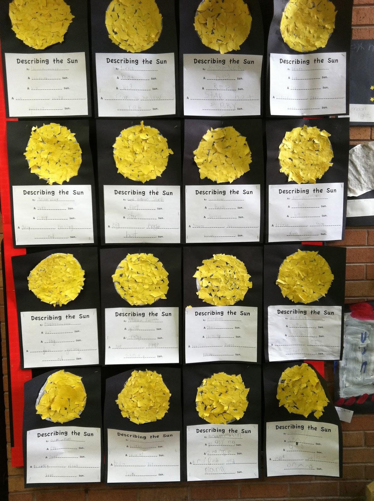 Ms Solano S Kindergarten Class Describing The Sun