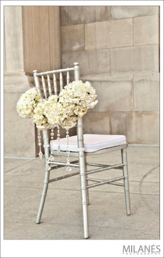 Hydrangea Chair Decor