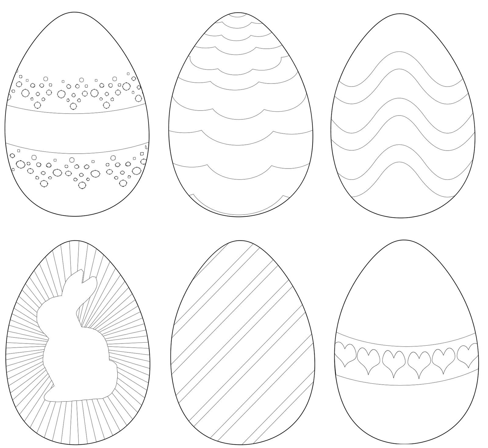 Fichas De Ingles Para Ninos Huevos De Pascua Para Colorear
