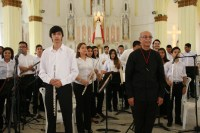 La Iglesia Santa Lucía, templo parroquial católico del tradicional barrio marabino de El Empedrao, fue escenario de una de las muestras musicales de los núcleos de la región