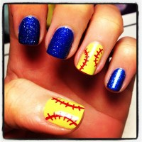 Queen Nail Designs: Softball Love!