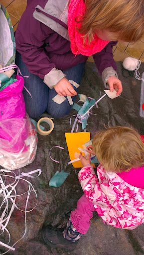 Making wind socks with Janet Hetherington