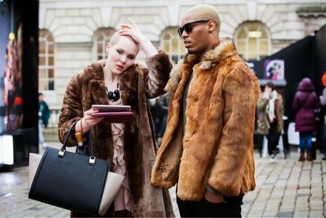 London Fashion Week streetstyle couple