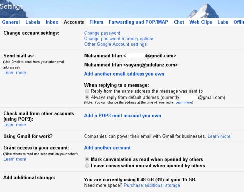 Laman Settings Gmail