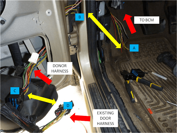 2004 Jeep Grand Cherokee Wiring Harness Door