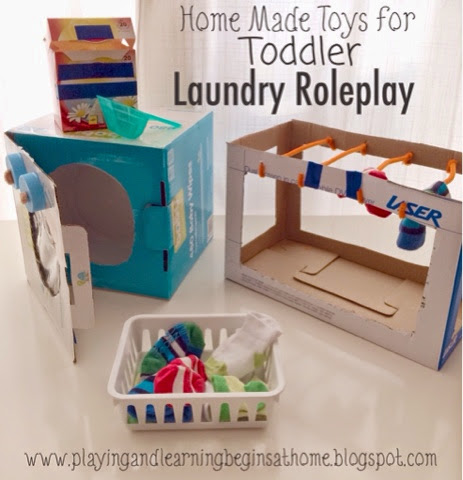 Playing and Learning Begins at Home Role Play Laundry