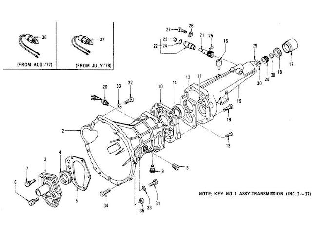 Datsun 620 Transmission Case 5-Speed (FS5W71B) (From Aug.-'76)