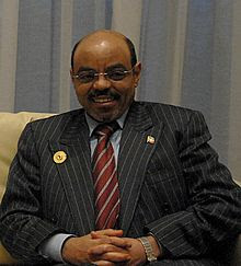 Former Prime Minister of Ethiopia Meles Zenawi.