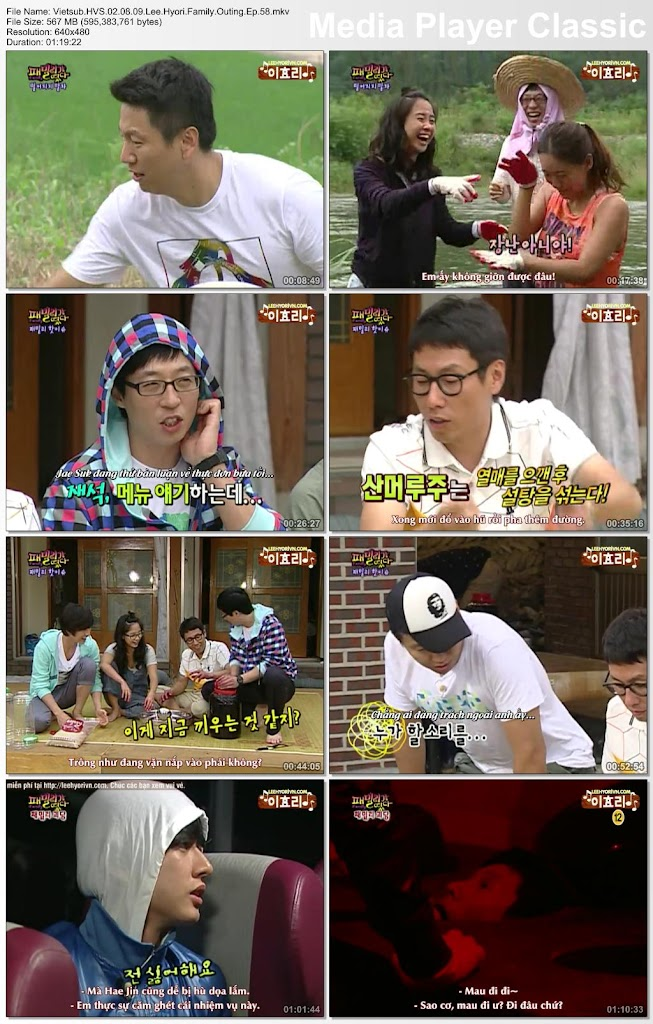 Family Outing Vietsub : family, outing, vietsub, Vietsub][02.08.09], Family, Outing, Ep.58, (Guest: