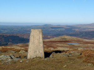 Whitfell Trig Point to Stainton Pike.