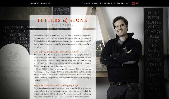 *簡單黑與白的印刷相關網站|I Love Typography Web Site 3