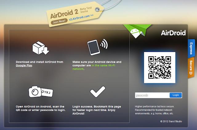 *透過無線網路來管理手機上的資料:AirDroid (Android) 2