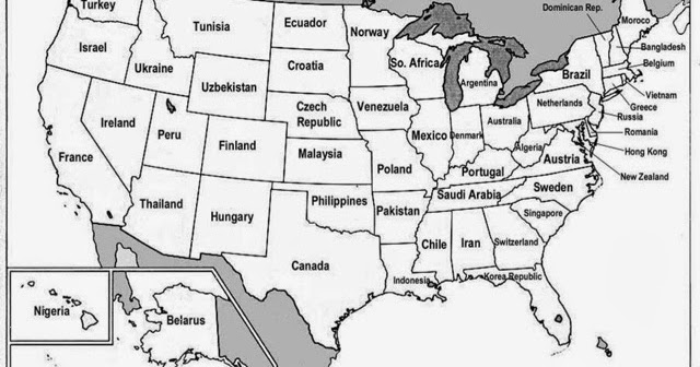 Geography @Brambletye: What if? An unusual map of the USA