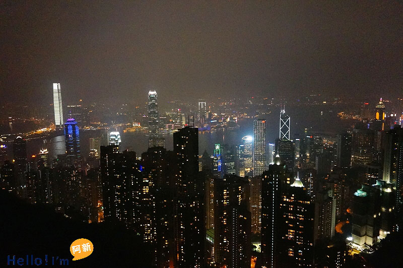 香港夜景,太平山夜景,凌霄閣摩天台428-5