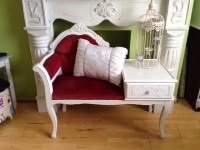 Claire's Shabby Chic: Vintage telephone table chair