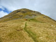 Approaching Ash Crags On Steel Fell