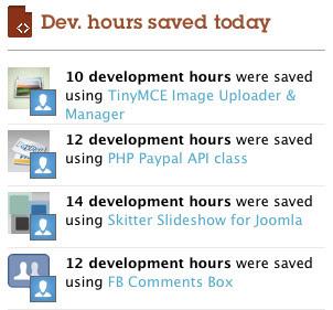 Development hours saved on Binpress