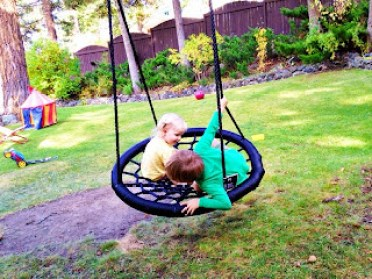 swing and spin, backyard swing, sponsored post, mom blogger, family blog, product review, backyard ideas, diy backyard, easy backyard, backyard swing, yard, back yard, sandbox, clothesline, garden beds, raised beds, grass