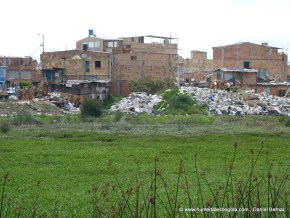 Barrio UNIR en la ribera del humedal Jaboque