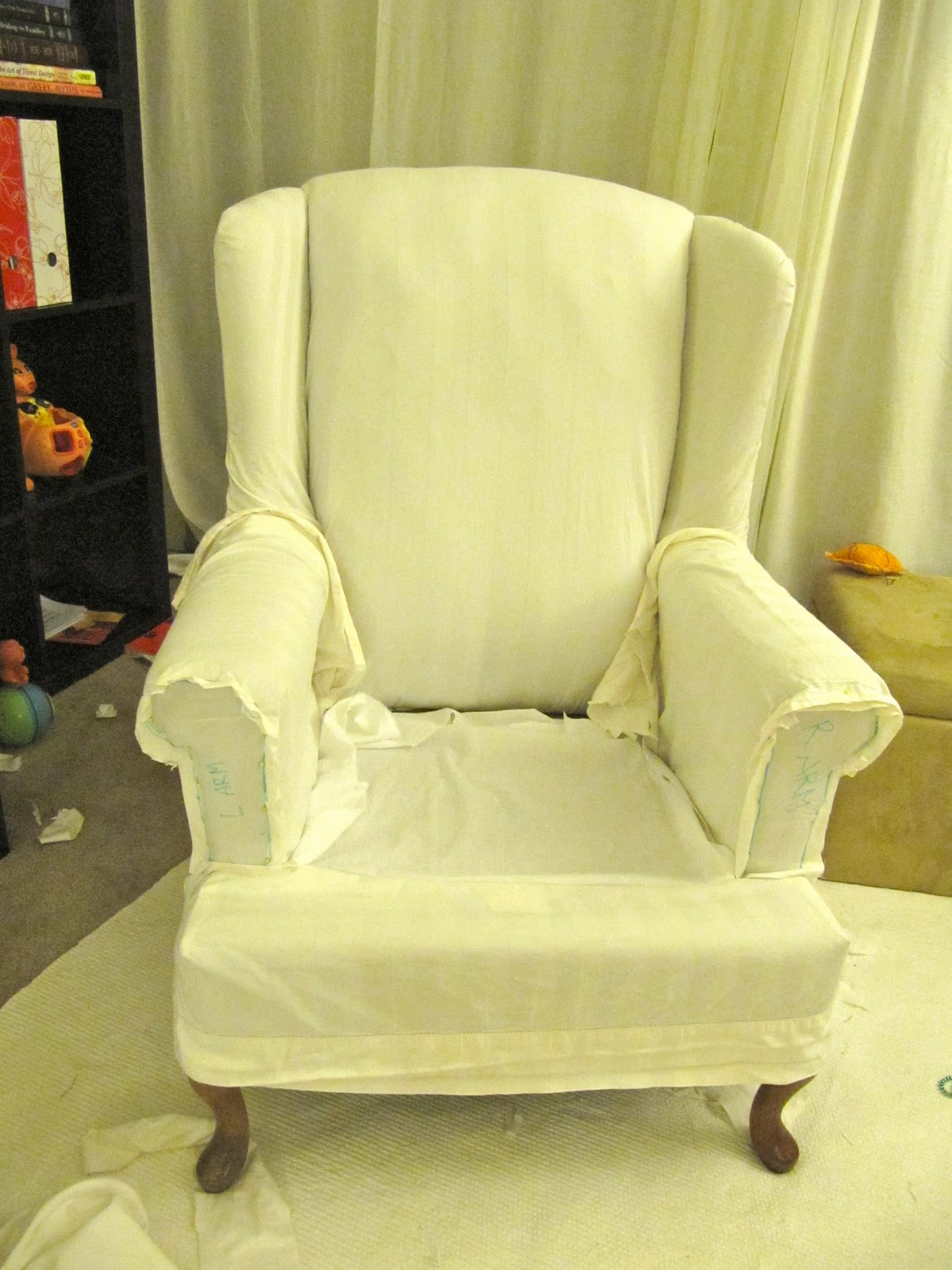 My Wing Chair Slipcover Reveal