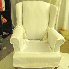 How To Make Slipcover For Wingback Chair Kohls Cushions My Wing Reveal A