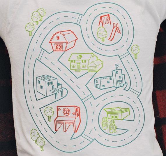 *增進親子關係:Car Play Mat T Shirt 讓你就算累趴也能和小孩玩在一起! 3