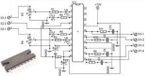 Car power amplifier with TA82010AH | Wiring Diagram Remote