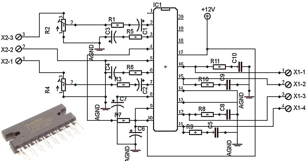 circuit diagram for subwoofer car amplifier