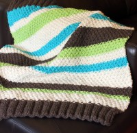 Easy Baby Blanket Knitting Pattern for Beginners - with ...