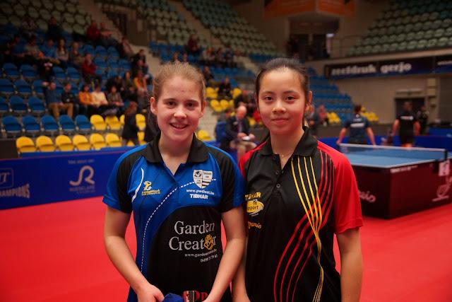 Marie Maesen en Lisa Lung winnen finale dames dubbel tafeltennis