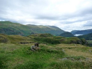 Helvellyn & Thirlmere from top near High Rigg Summit