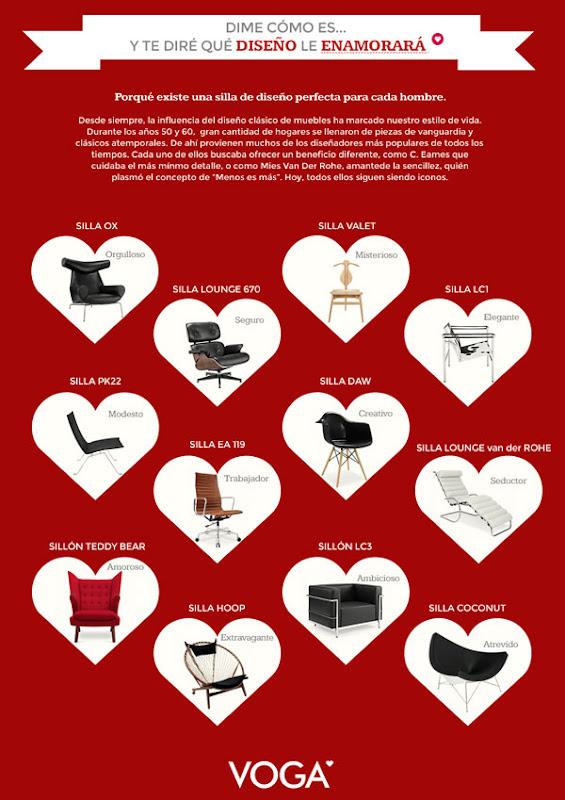 Sillas para regalarle a ÉL en San Valentín