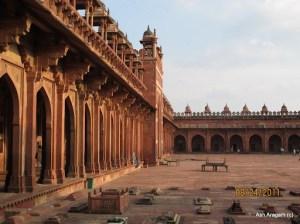 Inside the Fatehpur-sikri