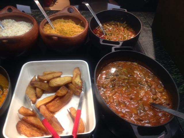 The hot buffet selection on Rodizio Lebanon