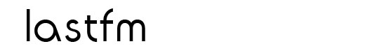 ITC Ronda font logo lastfm