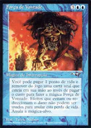 Força de Vontade, do set Alianças, de Magic the Gathering