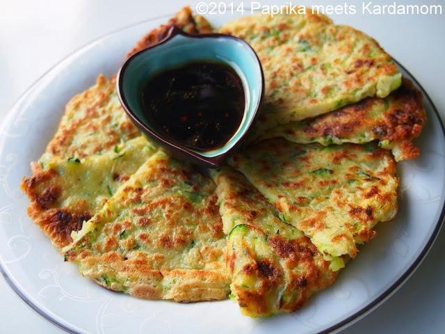 Schnelles abendessen koreanische zucchinipfannkuchen for Schnelles abendessen