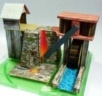Iron Furnace Papercraft ~ Paperkraft.net