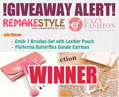 RemakeStyle X Eazy Fashion Giveaway Winner | RemakeStyle X Eazy Fashion Giveaway Winner